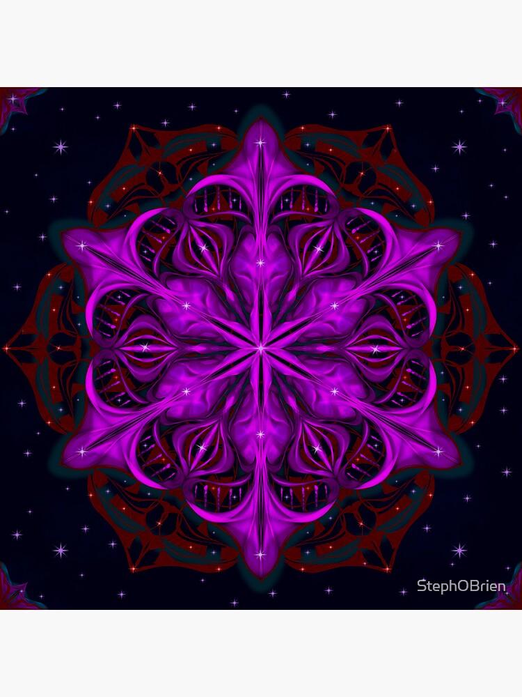 Spaceborne Orchid Snowflake by StephOBrien