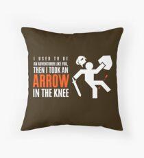Arrow in the Knee Throw Pillow