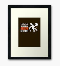 Arrow in the Knee Framed Print