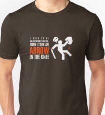 Camiseta unisex Flecha en la rodilla
