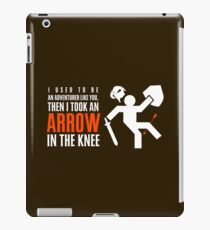 Arrow in the Knee iPad Case/Skin
