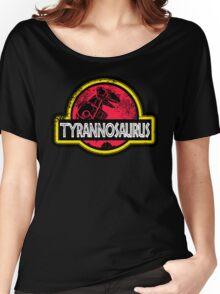 Jurassic Power Red Women's Relaxed Fit T-Shirt