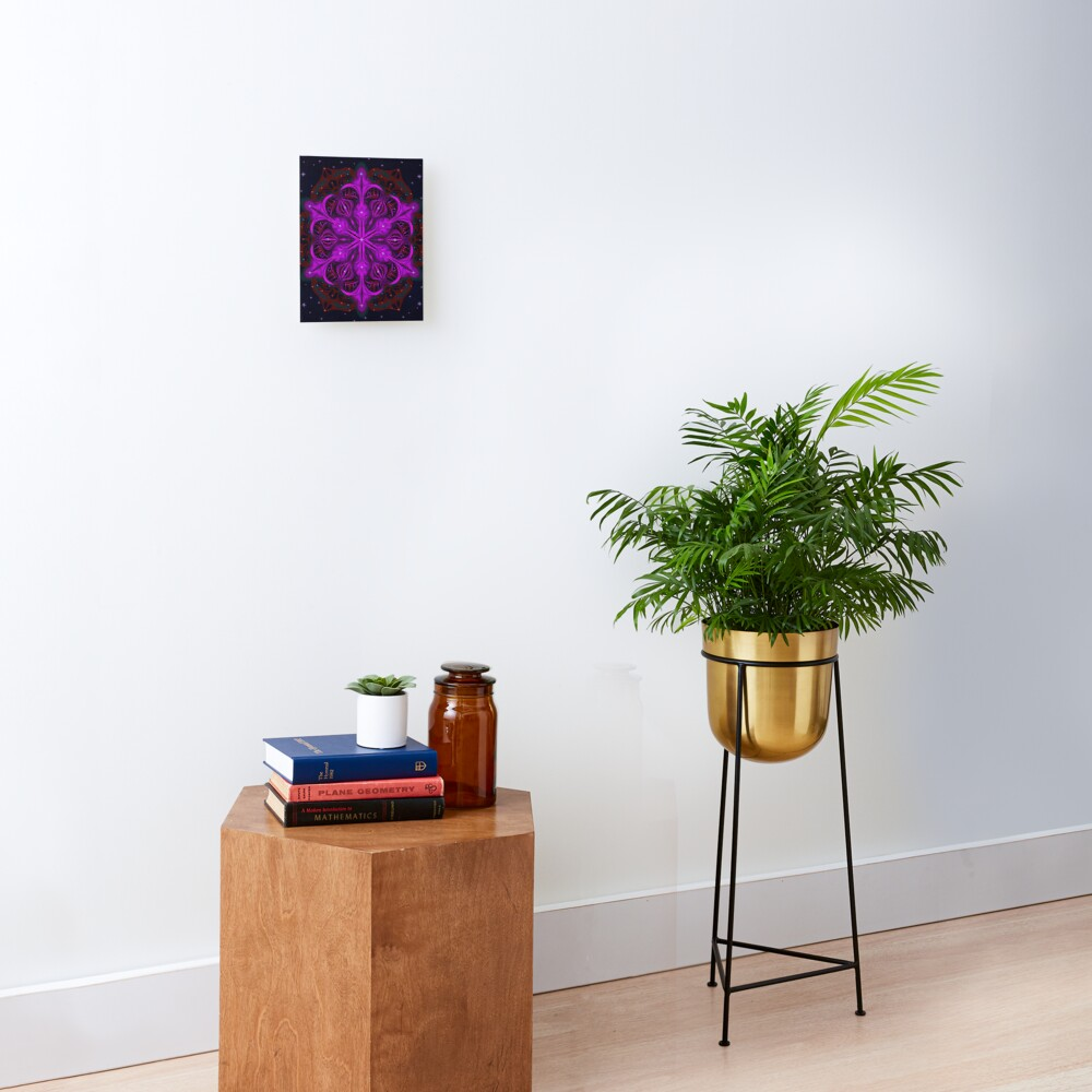 Spaceborne Orchid Snowflake Mounted Print
