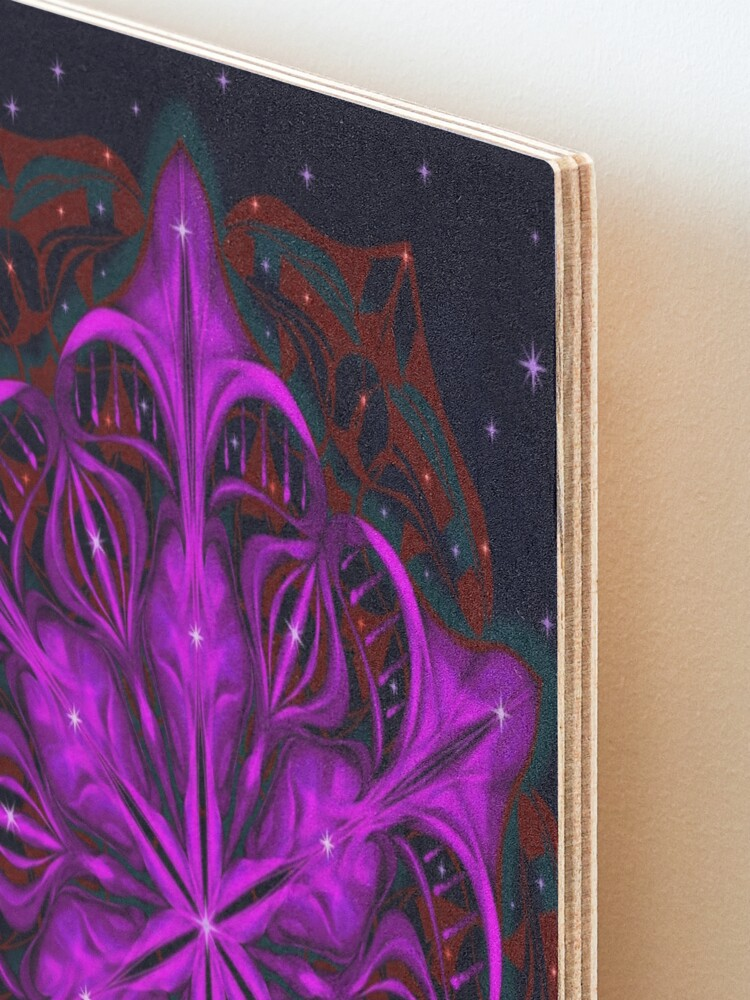 Alternate view of Spaceborne Orchid Snowflake Mounted Print