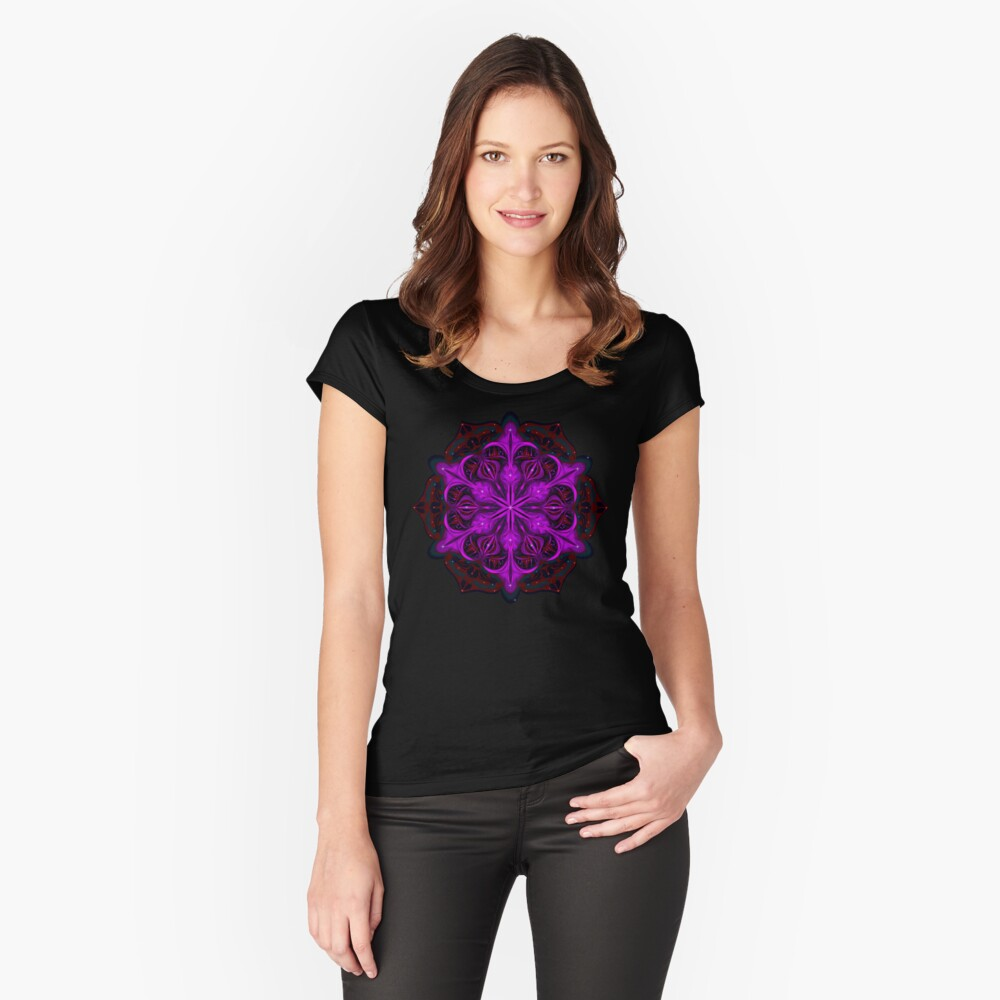 Spaceborne Orchid Snowflake Fitted Scoop T-Shirt