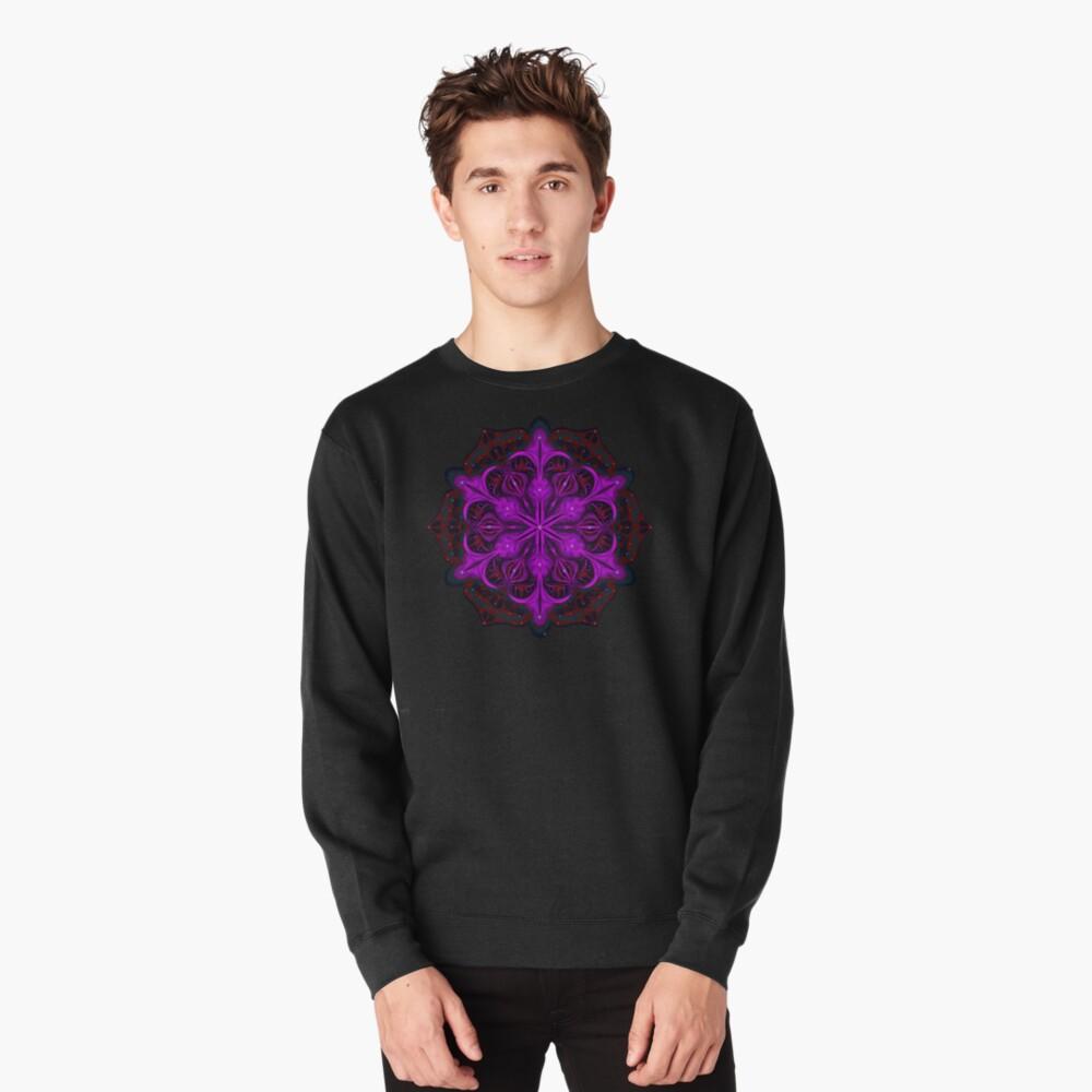 Spaceborne Orchid Snowflake Pullover Sweatshirt