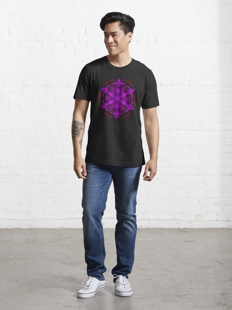 Alternate view of Spaceborne Orchid Snowflake Essential T-Shirt