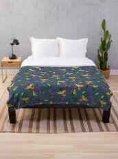 • Beautiful Birdies • exclusive Hi-Res pattern Throw Blanket