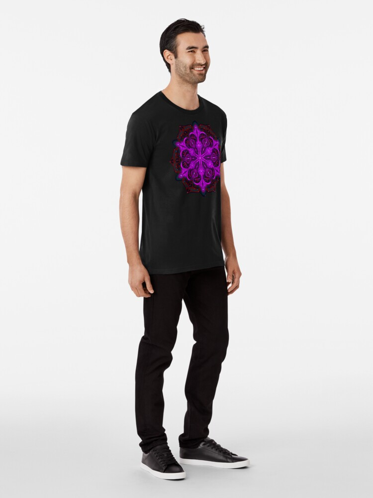 Alternate view of Spaceborne Orchid Snowflake Premium T-Shirt