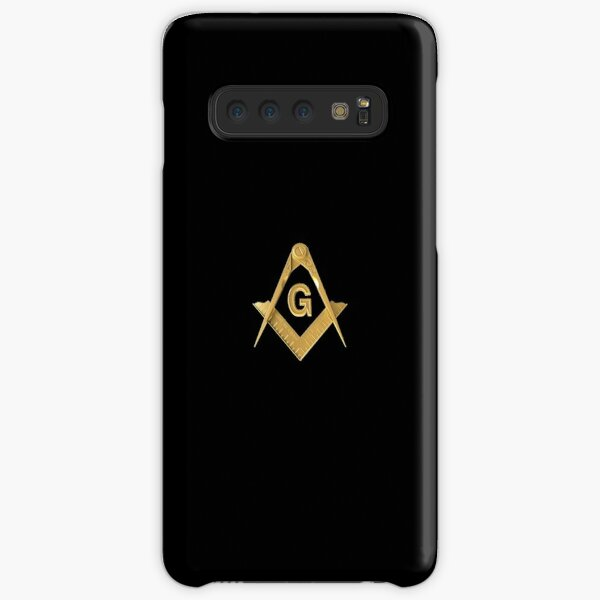 Freemason Gold Square & Compass Black Background Masonic Samsung Galaxy Snap Case