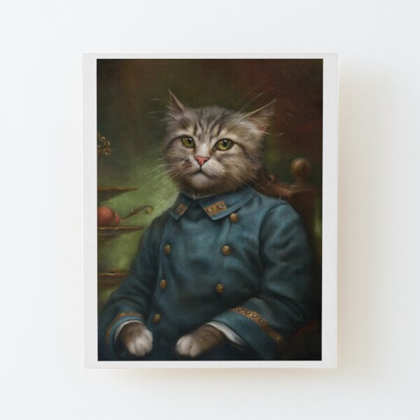 The Hermitage Court Confectioner Apprentice Cat  Wood Mounted Print
