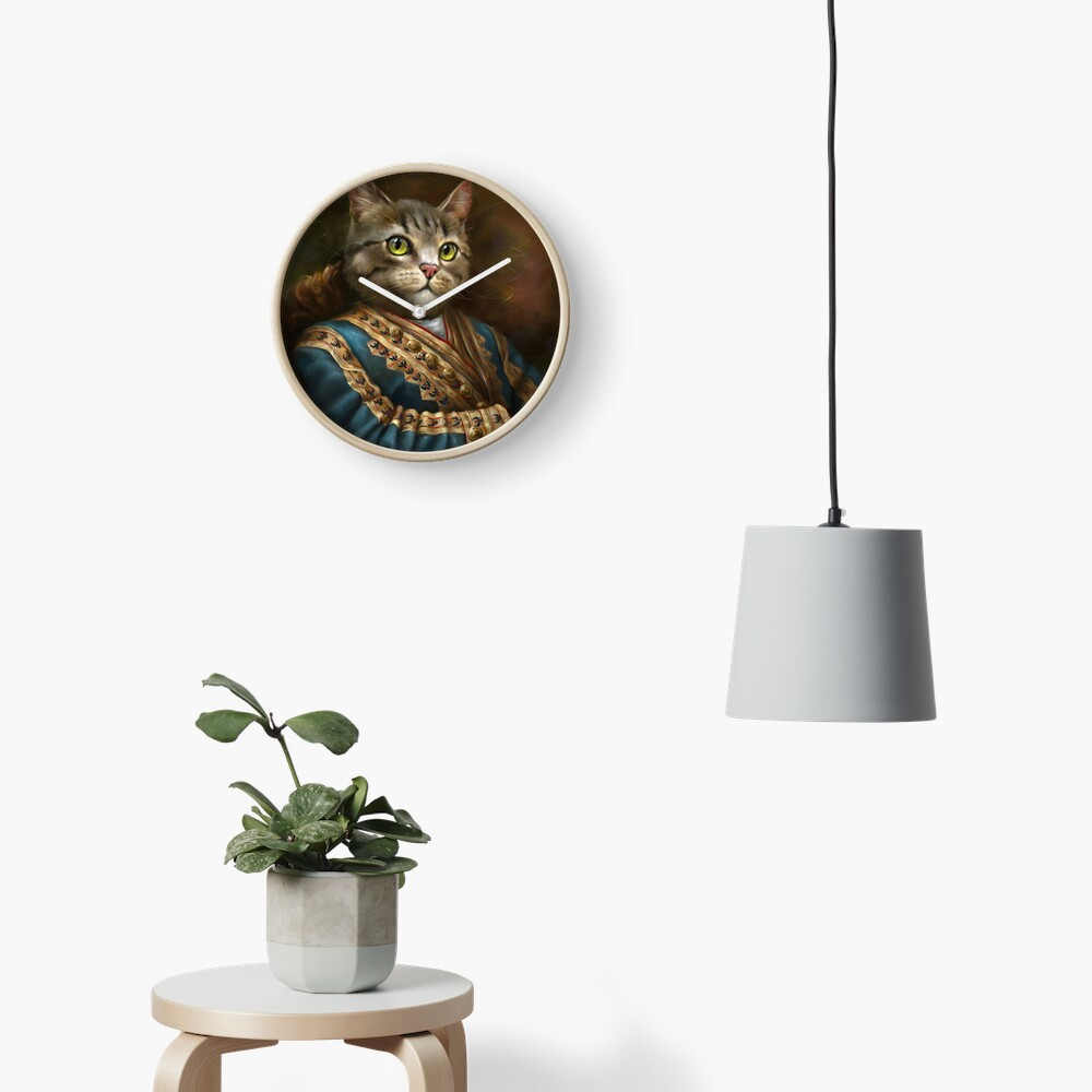 The Hermitage Court Outrunner Cat  Clock
