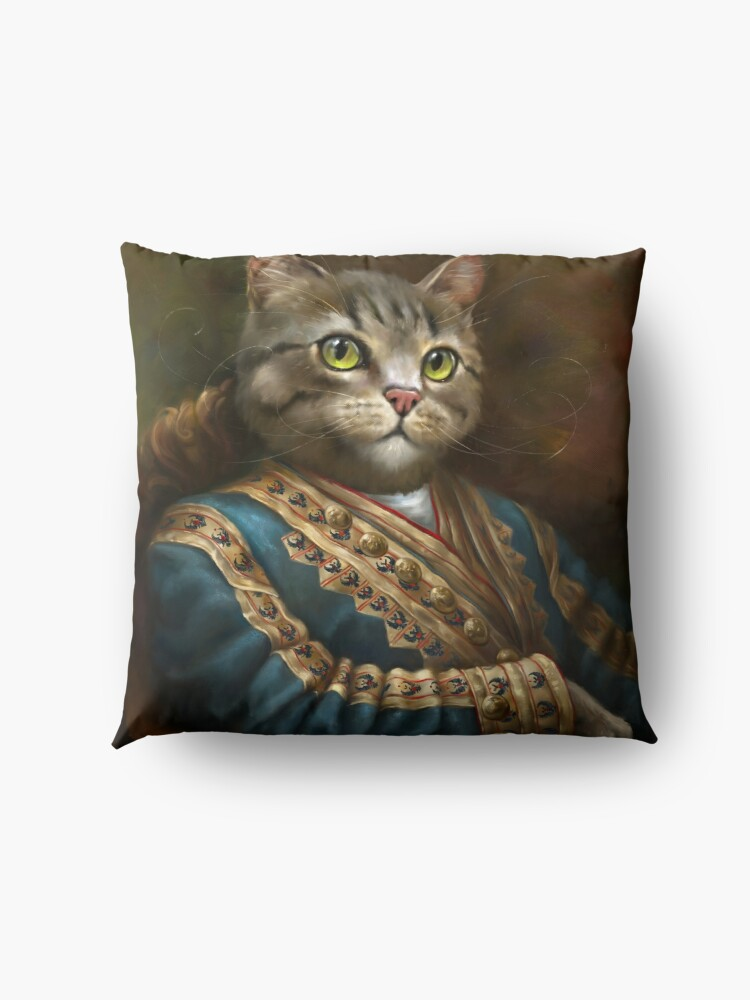 Alternate view of The Hermitage Court Outrunner Cat  Floor Pillow