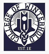 College of Winterhold Est. 1E (white) Photographic Print
