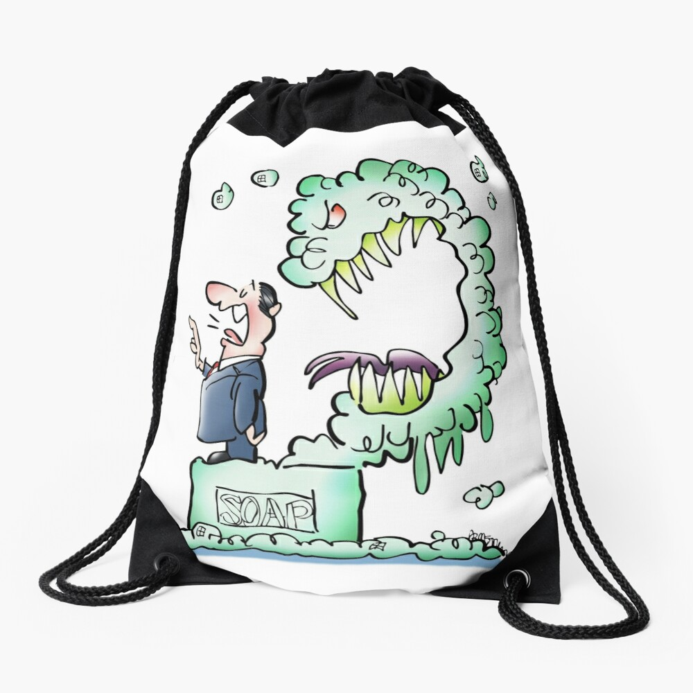 Sometimes Our Words Come Back To Eat Us Drawstring Bag