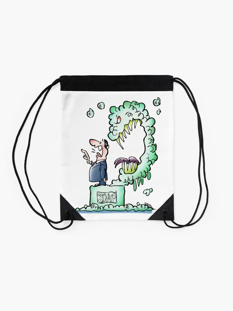 Alternate view of Sometimes Our Words Come Back To Eat Us Drawstring Bag