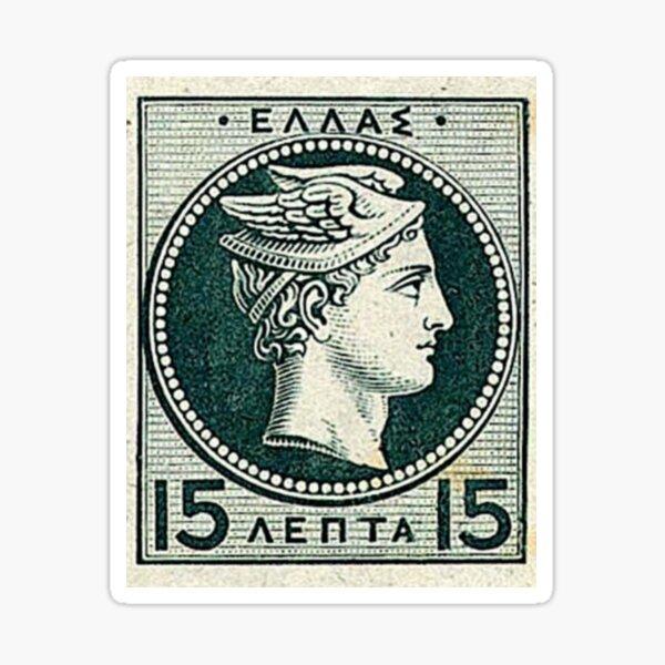 Frais de port grec vintage Sticker