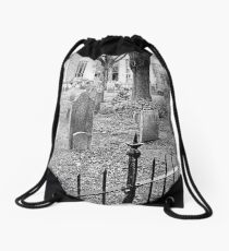 Church Yard~ Old Dutch Church Drawstring Bag