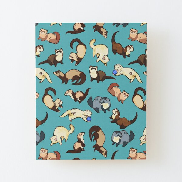 cat snakes in blue Wood Mounted Print