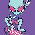 Alien Skater by pickledjo
