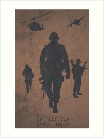 Battlefield Samper Fidelis Gaming Poster by HAPPYDOOMSDAY