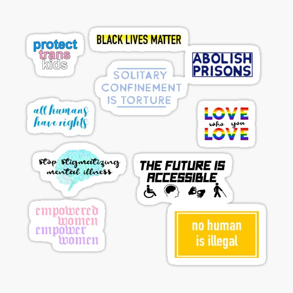 Menschenrechts-Sticker-Pack Sticker