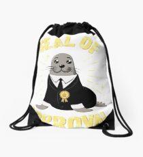 Seal Of Approval Drawstring Bag