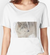 Timber wolf in winter Women's Relaxed Fit T-Shirt