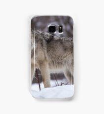 Timber wolf in winter Samsung Galaxy Case/Skin