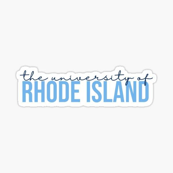 The University of Rhode Island - Simple Type Sticker