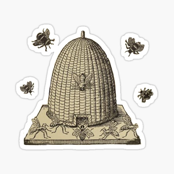 some bees Sticker