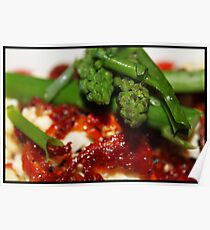 Salad - Asparagus Sundried tomato and fetta Poster