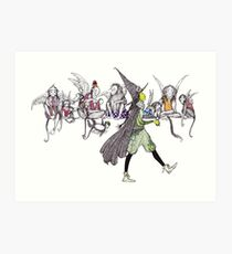 Flying Monkeys and Witch Art Print