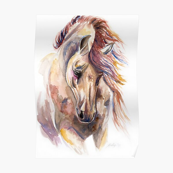 Color Horse Poster