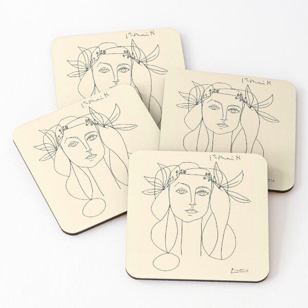 HEAD 1946 : Vintage Abstract Print Coasters (Set of 4)