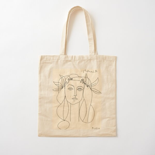 HEAD 1946 : Vintage Abstract Print Cotton Tote Bag