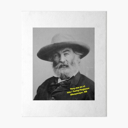 Author Journalist WALT WHITMAN Glossy 8x10 Photo Poet Print Writer Poster