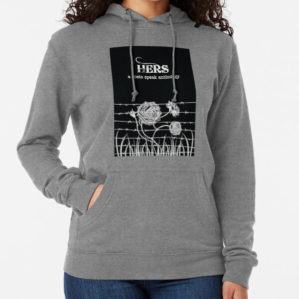 Hers book cover from a poets speak anthology  Lightweight Hoodie