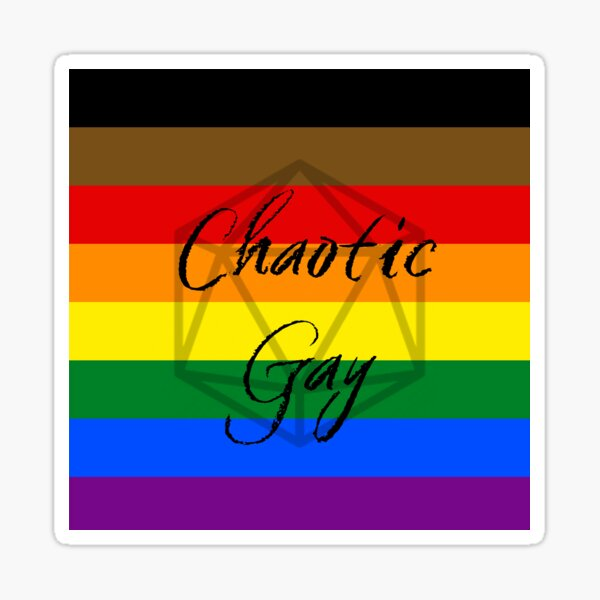 Chaotic Gay Sticker