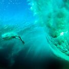 Boogie Board ride under Pipeline by Kana Photography