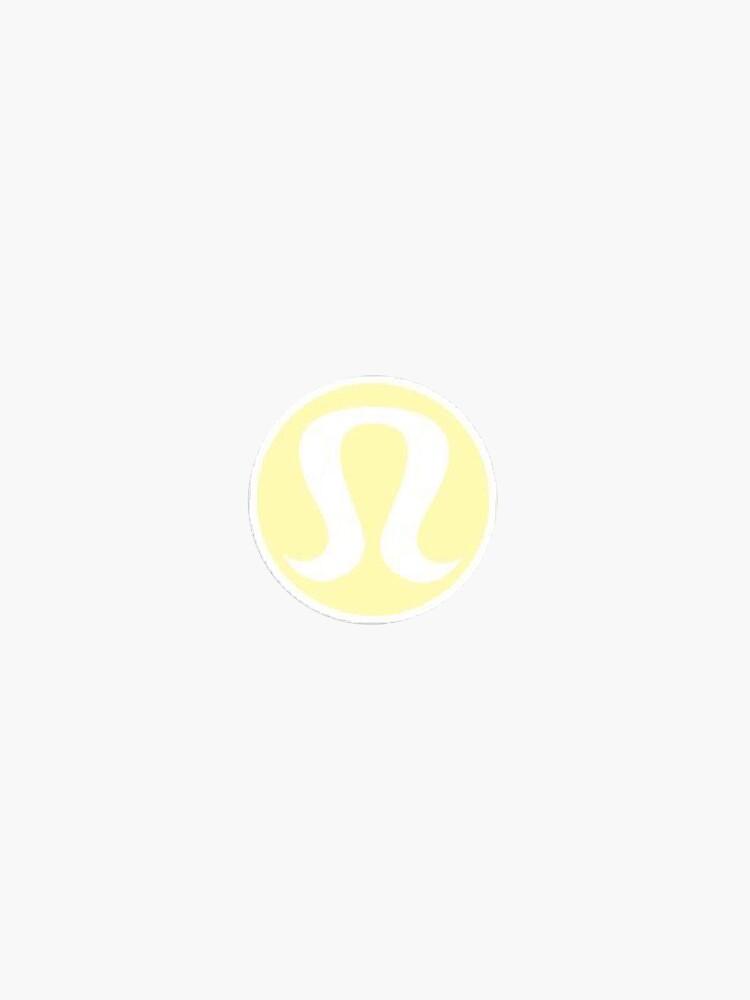 lululemon yellow sticker logo aesthetic girly lulu by stickergorlxox