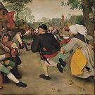 The Peasant Dance - Pieter Bruegel the Elder by themasters
