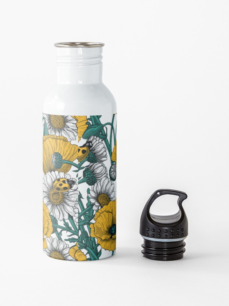 Alternate view of The meadow in yellow Water Bottle