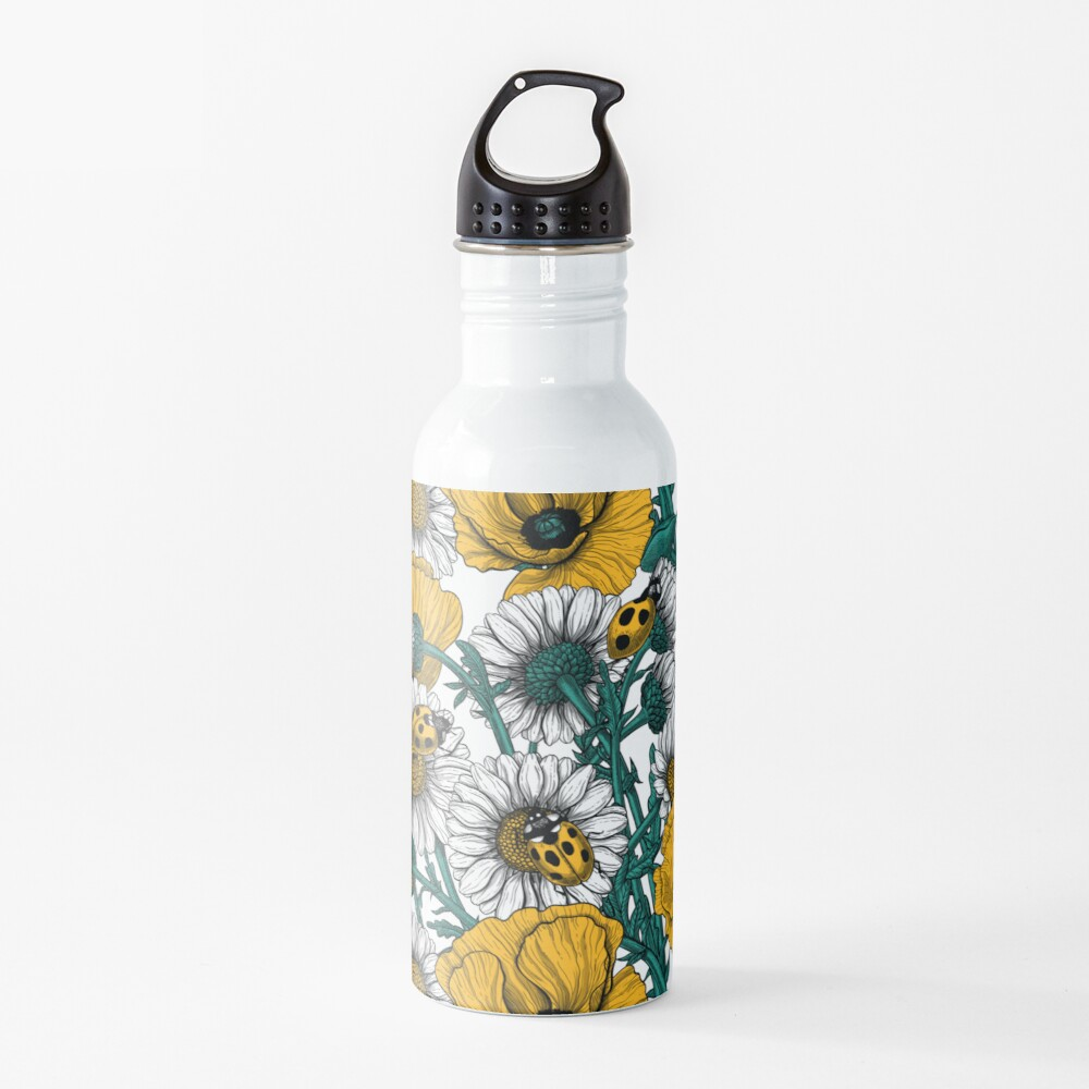 The meadow in yellow Water Bottle