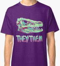 Camiseta clásica Cráneo Velociraptor