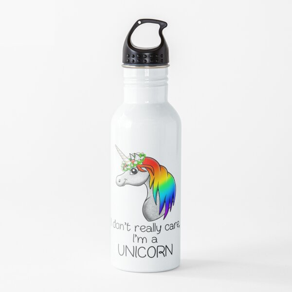 Pride humor Statement - I Dont Really Care, Im a Unicorn Water Bottle