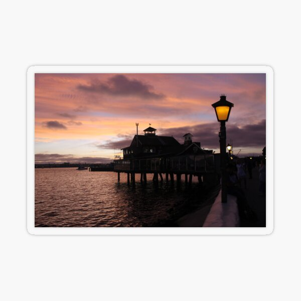 #Evening #view from the #waterfront at Seaport Village, San Diego, #California. #SeaportVillage #SanDiego #EveningView Transparent Sticker
