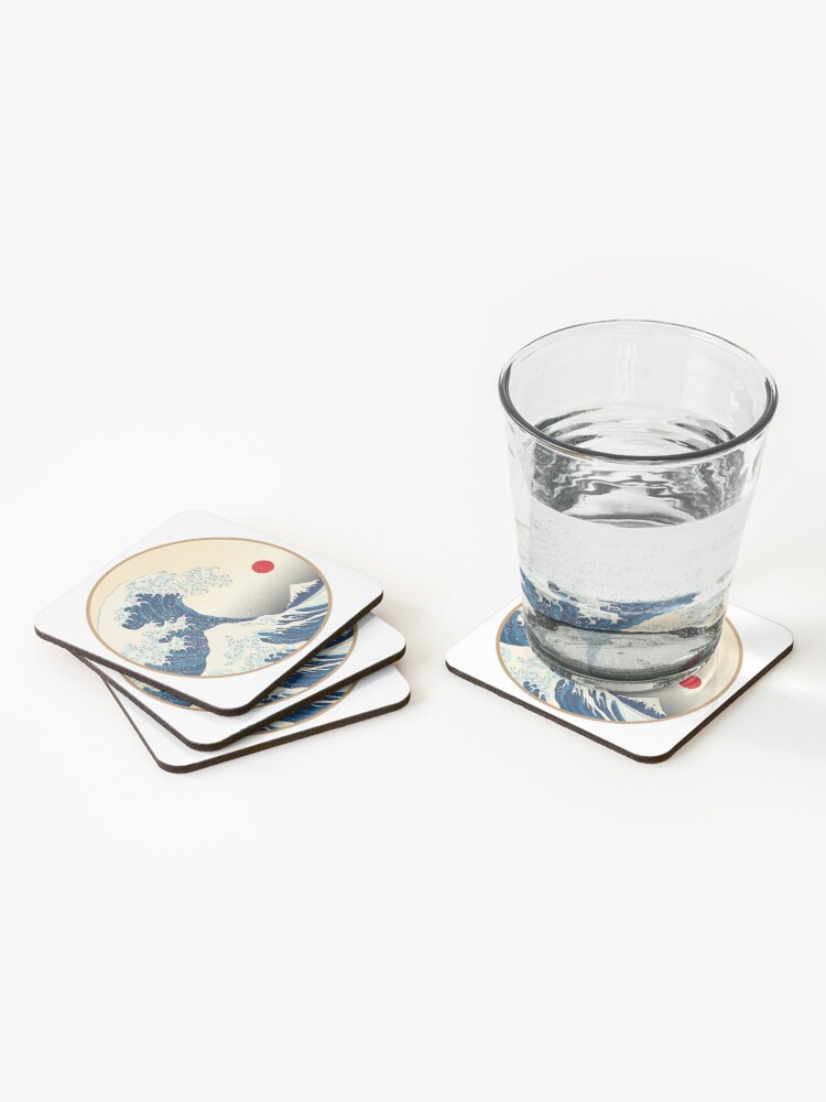 Alternate view of Japanese Art Coasters (Set of 4)