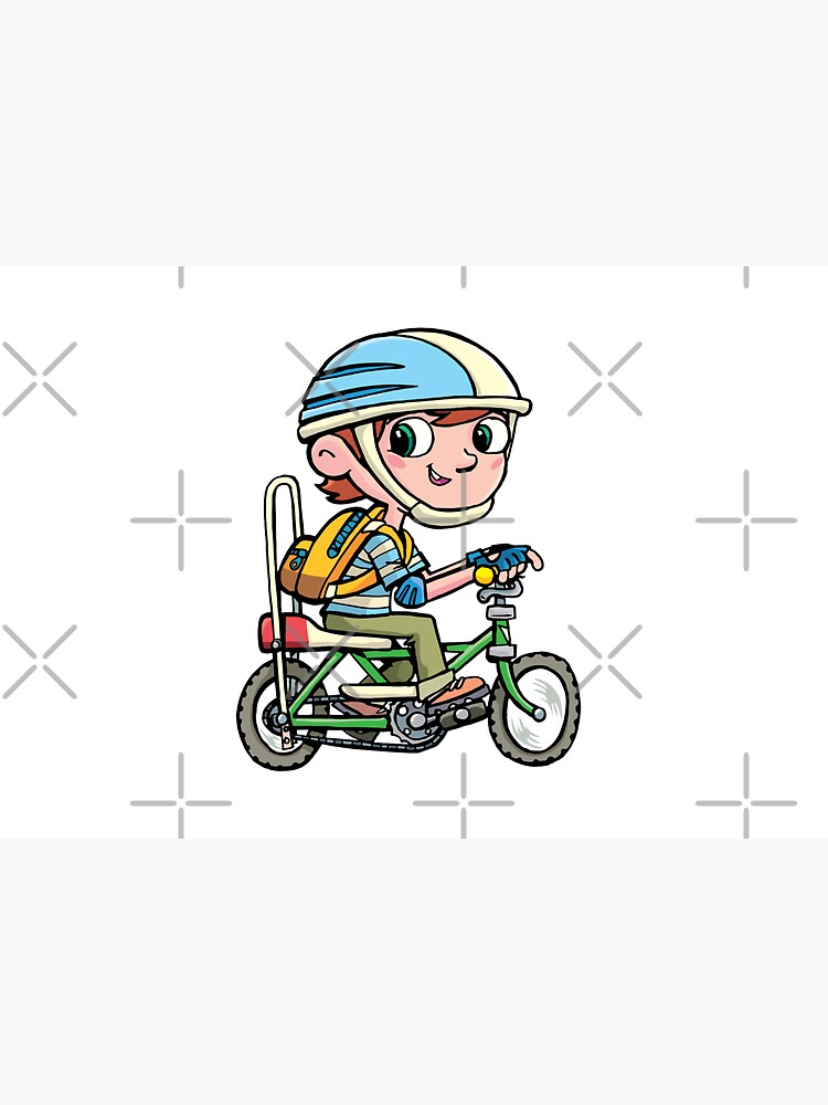 boy rides a boy's bike from the 80's by duxpavlic