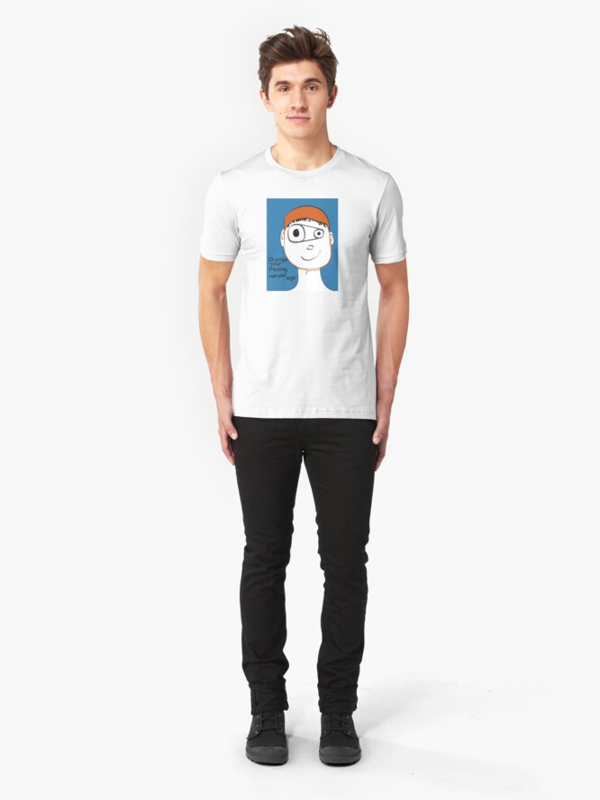 Alternate view of Change Your Thinking Use Your Legs Slim Fit T-Shirt